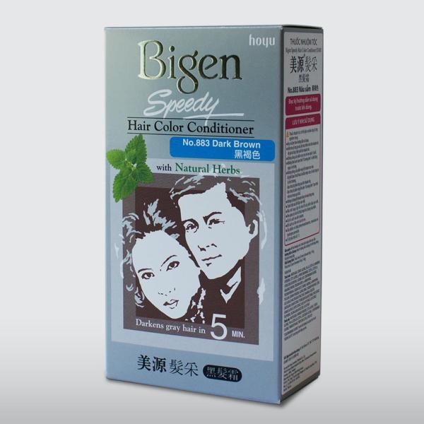 Thuốc nhuộm tóc phủ bạc dạng kem Bigen Speedy Hair Color Conditioner 80ml tốt nhất