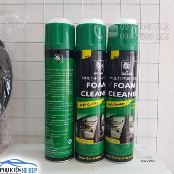 Chai xịt vệ sinh nội thất ô tô, Xịt tẩy, vệ sinh nội thất xe hơi Foam Cleaner dung tích 650ml, vệ sinh ghế Da, nhựa nội thất xe