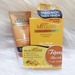 Hộp 5 gói dầu gội dược liệu Megumi ngăn rụng tóc + tặng 1 tuýp dầu xả 25g thumbnail