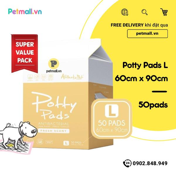 Tấm lót vệ sinh Potty Pads 60cm x 90cm - 50 tấm Singapore