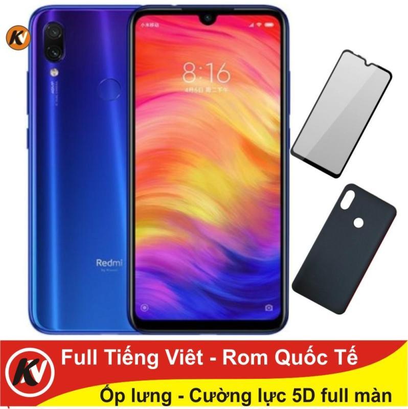 Combo điện thoại Xiaomi Redmi Note 7 32GB Ram 3GB - Hàng nhập khẩu + Cường lực+ Ốp lưng (Full Tiếng Việt ) - Xanh