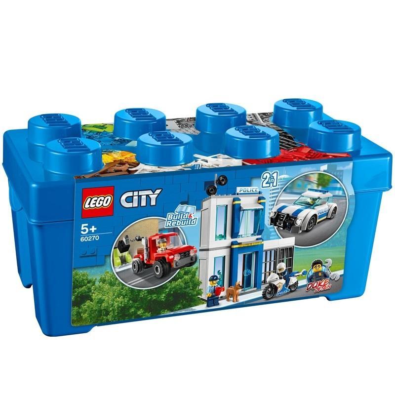 Cơ Hội Giá Tốt Để Sở Hữu Bộ Lắp Ráp Thùng Gạch Cảnh Sát - LEGO City 60270 (301 Chi Tiết)