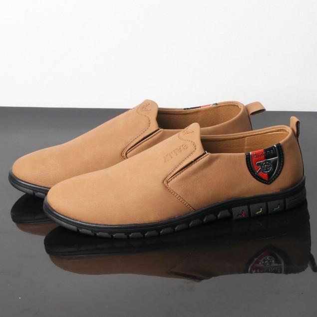Giày lười nam màu da bò đế đen chất lượng tốt, thiết kế thời trang SG429 Saosaigon giá rẻ