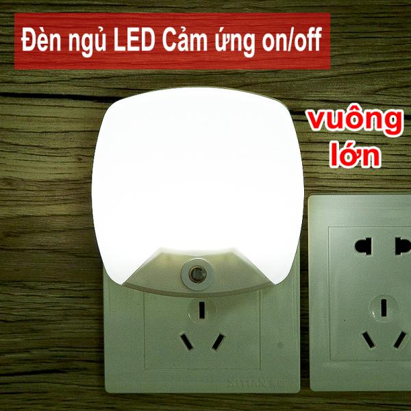 Đèn LED ngủ Cảm ứng Ngày tự tắt, Đêm tự sáng, Loại vuông Lớn