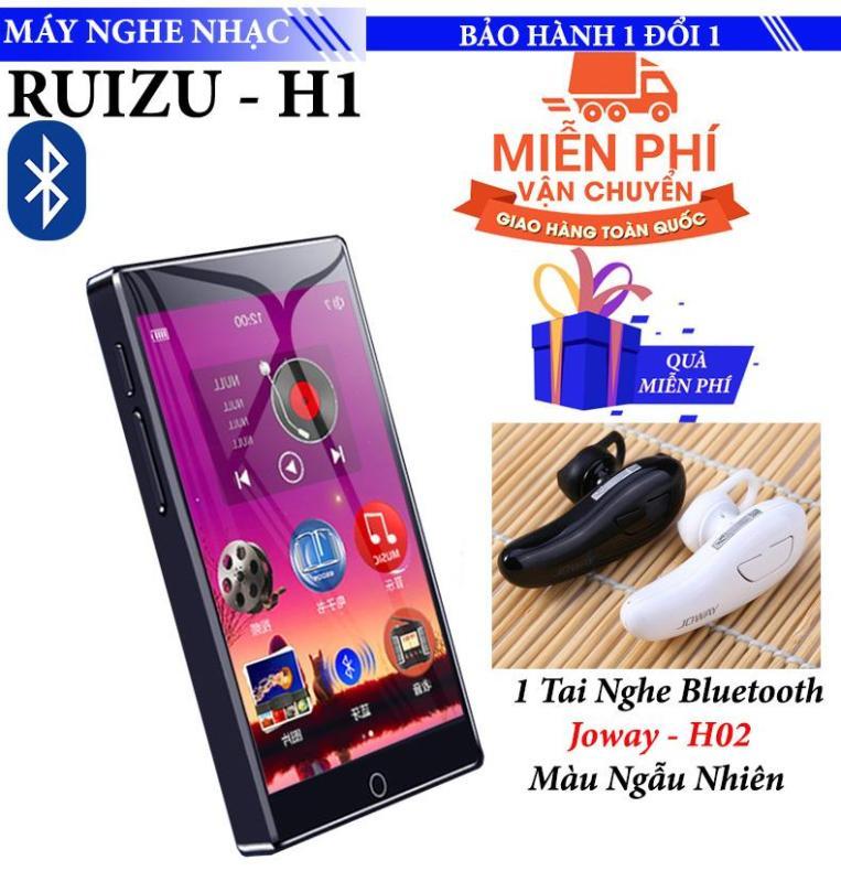 Máy nghe nhạc Mp3/Mp4 Ruizu H1 8GB Màn Hình full Cảm ứng Bluetooth 5.0 Máy Nghe Nhạc Kỹ Thuật Số Di Động Máy Thu Radio FM Ghi Âm Với Tai Nghe Gắn Mic - Tặng Tai nghe Bluetooth Joway H02 Cao cấp