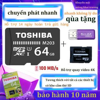 Thẻ nhớ Micro SD XC Toshiba M203 UHS-I U1 64GB 100MB s (Đen) qùa tặng kèm Adapter thumbnail