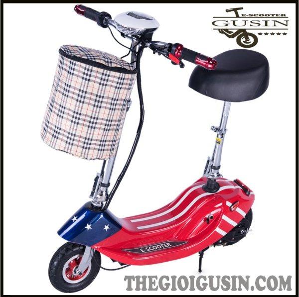 Giá bán Xe Điện E-scooter mini Màu Cờ Mỹ / GuSin Phân Phối Chính Hãng / Sỉ lẽ Toàn Quốc