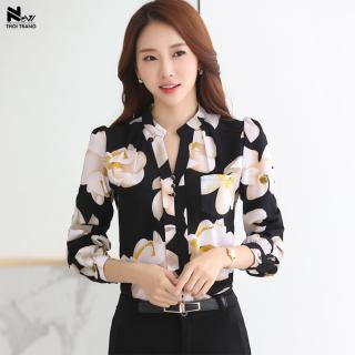 [HCM]Áo Sơ Mi In Hoa Thời Trang - New Thoi Trang thumbnail