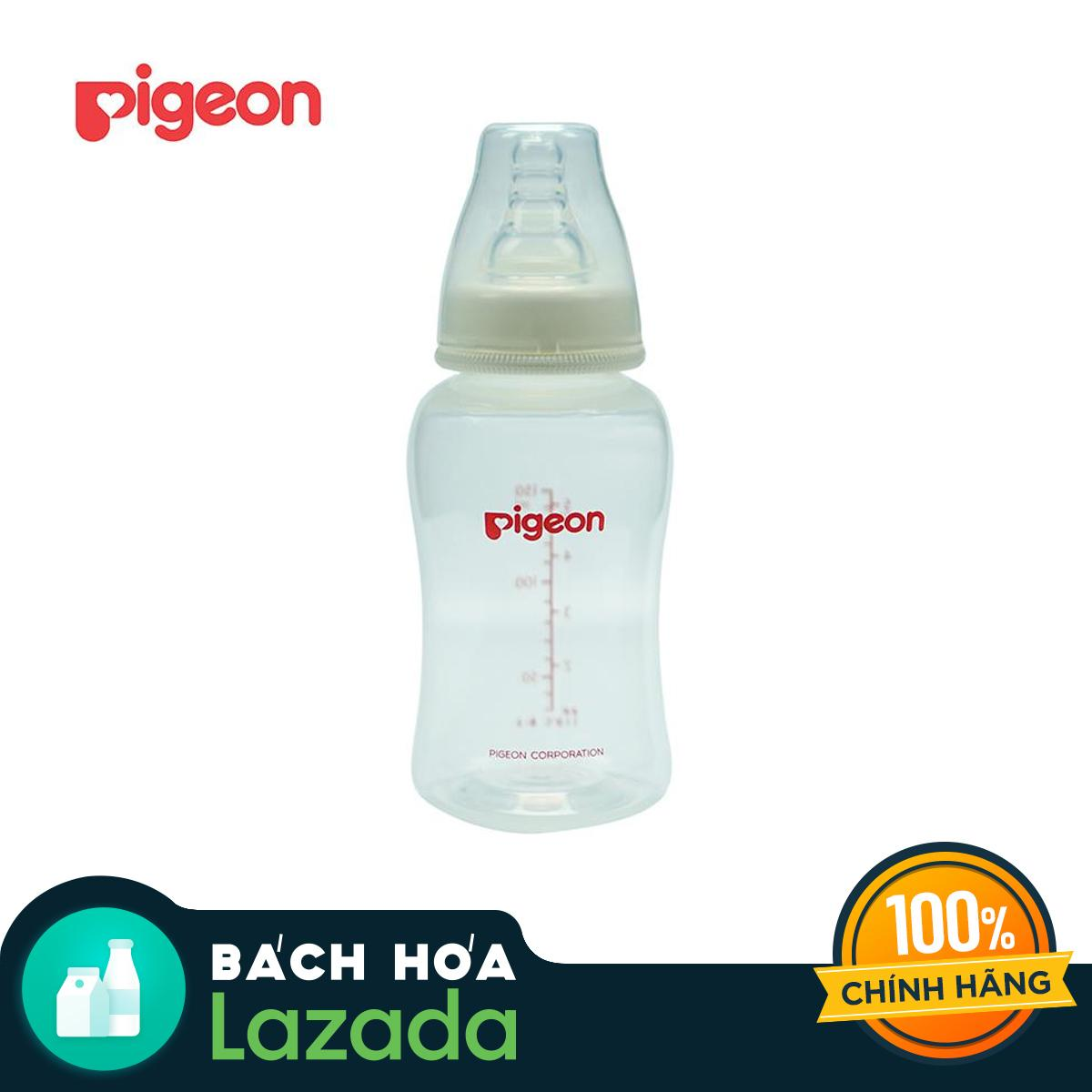 [TẶNG NÚM VÚ SIZE M] Bình sữa PIGEON PP Streamline...