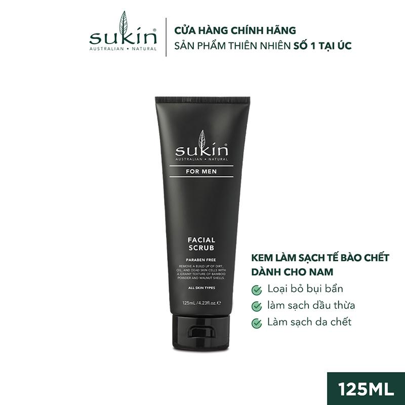 Kem Làm Sạch Tế Bào Chết Dành Cho Nam Sukin For Men Facial Scrub 125ml SU41LA - SUKINVN - SUKIN BEAUTY giá rẻ