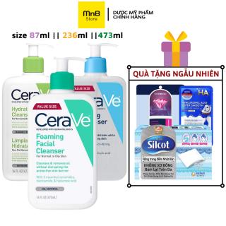 [88ML, 236ML,473ML ] Sữa rửa mặt Cerave Foaming Facial Cleanser (473ml) cho da dầu mụn nhạy cảm - MnB Store thumbnail
