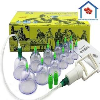 Bộ giác hơi 12 ống hút chân không hộp vàng Thailand - không dùng lửa, an toàn sức khỏe sức khỏe thiết bị y tế - dụng cụ chăm sóc sức khỏe thumbnail