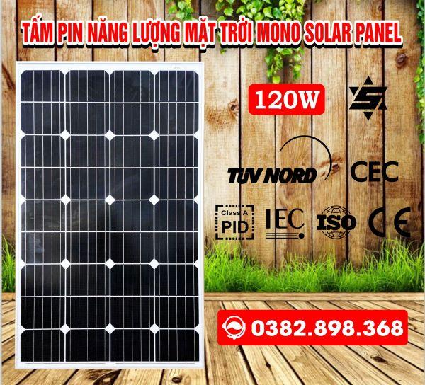 Tấm pin năng lượng mặt trời 120W mono Solar panel