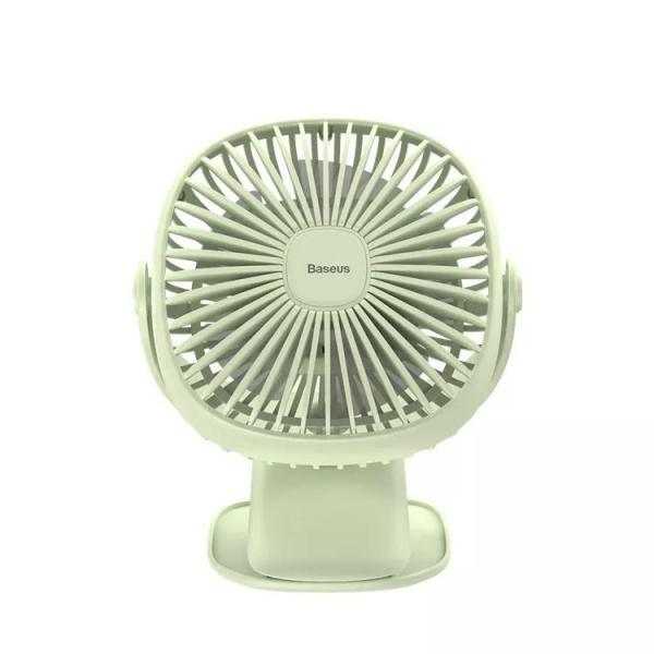 Quạt Sạc Tích Điện Mini (Pin sạc 2000mAh, 3 Tốc Độ Gió) Cầm Tay Hoặc Để Bàn và có kẹp tiện dụng Đa Năng pin bền thương hiệu Baseus
