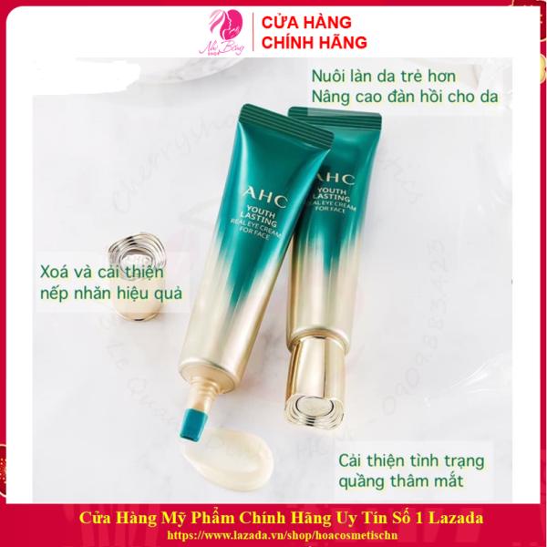 [Hết Thâm 100% - Hàng Auth] Kem mắt AHC Ageless Real Eye Cream For Face hết thâm quầng mắt Hàn Quốc 30ml