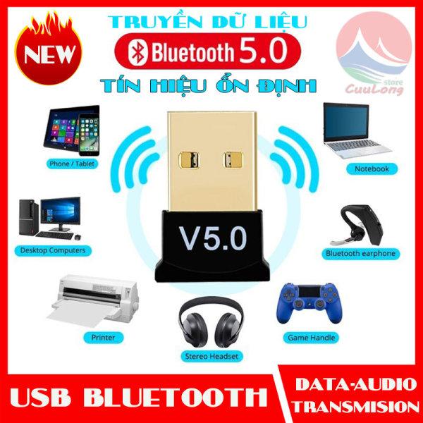 Bảng giá USB Bluetooth 5.0 Dongle Cho PC, Truyền Phát Dữ Liệu Máy Tính Laptop, Tín Hiệu Ổn Định, thiết bị thu phát bluetooth, cục phát bluetooth, bộ thu phát bluetooth, thu phát bluetooth cho máy in tay cầm tai nghe, usb bluetooth không dây Phong Vũ