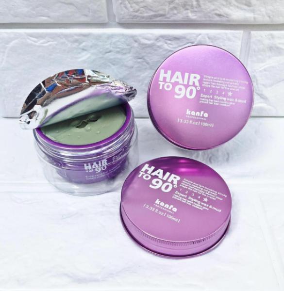 Sáp vuốt tóc dễ dàng tạo lại kiểu Hair To 90 Wax 100ml (Màu tím) cao cấp
