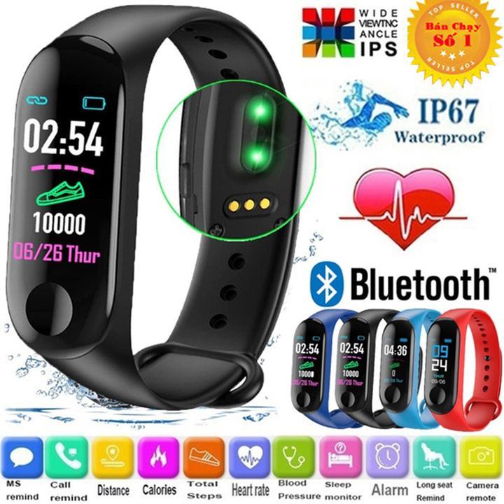 Đồng hồ thông minh đo nhịp tim, bước chân kết nối thông báo với điện thoại - Đồng hồ thông minh smartwatch - Đồng hồ thông minh giá rẻ