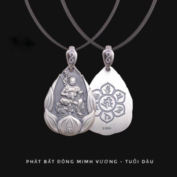 Mặt Dây Chuyền Phật Bản Mệnh Bạc Thái cao cấp 999 - Tặng kèm dây đeo