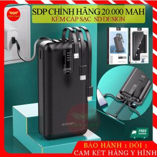 [Mẫu 2021] Pin Sạc dự phòng G02 chính hãng 20,000mAh SD Design kèm 3 dây sạc, cáp sạt cổng USB, bảo hành 12 tháng thumbnail