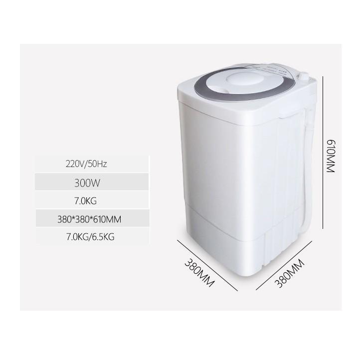 Máy giặt mini đa năng 1 lồng 6.5Kg chuyên dụng gia đình nhỏ, sinh viên