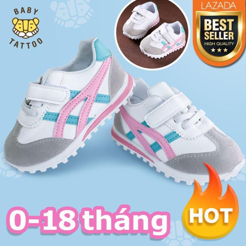 BABY TATTOO Giày cho bé yêu Giày thể thao cho bé trai và bé gái Giày tập đi đế mềm chống trơn trượt 0-18 tháng giá rẻ