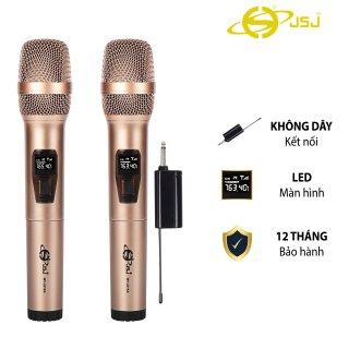 Mẫu Mới Micro karaoke không dây cao cấp JSJ-W221 tích hợp màn hình led chuyên nghiệp, công nghệ giảm tiếng ồn thông minh thumbnail