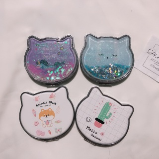 Gương 2 mặt tai mèo bỏ túi cầm tay chắc chắn (giao mẫu ngẫu nhiên) thumbnail