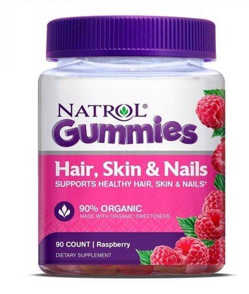 Natrol Kẹo Dẻo Gummies Hair Skin Nails Đẹp Da Móng Tóc 90 Viên