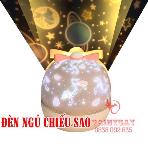 Đèn ngủ led chiếu sao dãy ngân hà bầu trời vũ trụ đại dương 3D cho bé tự xoay trần nhà trang trí phòng đẹp