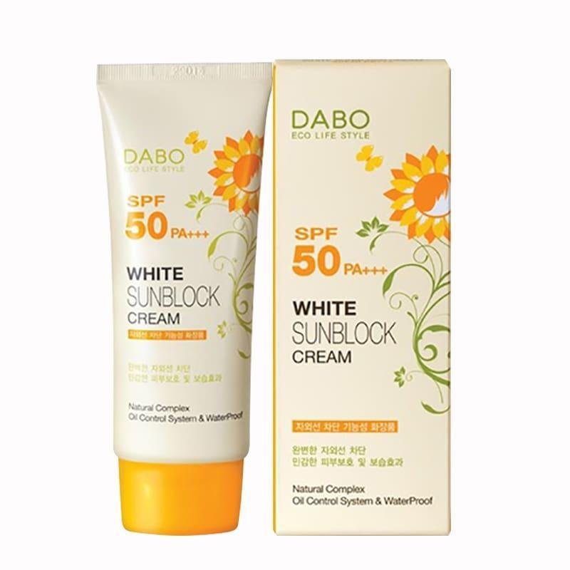 Kem Chống Nắng Dabo SPF50/PA+++ 70ml White Sunblock Cream