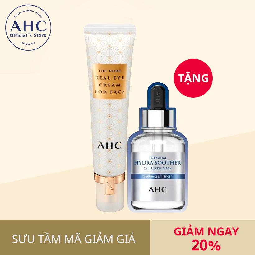 AHC The Pure Real Eye Cream for Face **Season5** 30ml - Gift AHC Premium Hydra Soother Cellulose Mask 27mlx1ea tốt nhất