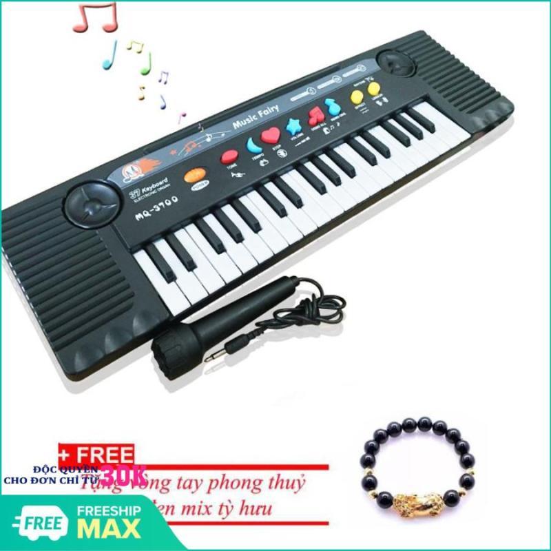 (Tặng kèm vòng tay tỳ hưu) Bộ đàn Organ 27 phím MQ-3700 có Micro dành cho trẻ em - Kmart