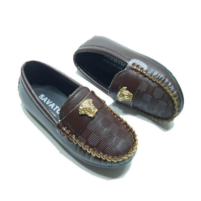 Giày Lười Giày Mọi cho bé trai màu đen và nâu giá rẻ