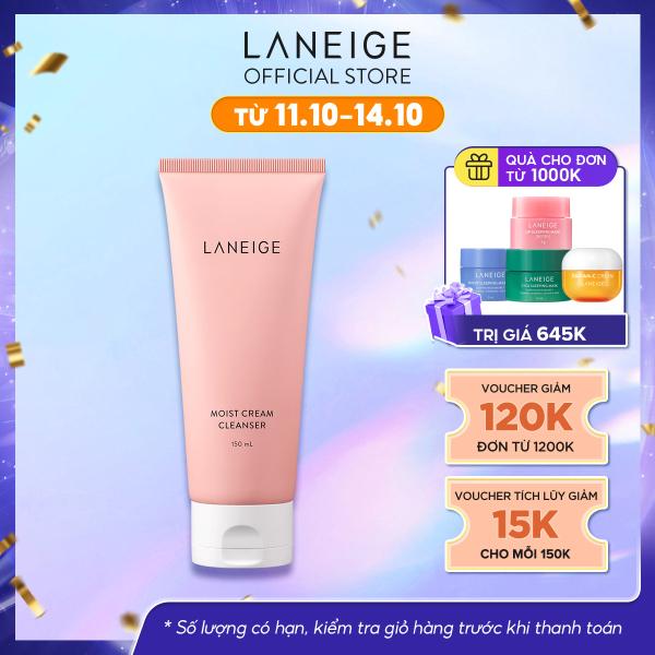 Sữa rửa mặt giúp dưỡng ẩm cho da thường và da khô Laneige Moist Cream Cleanser 150Ml giá rẻ