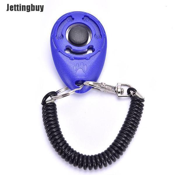 Còi Huấn Luyện Chó Jettingbuy Clicker Huấn Luyện Thú Cưng Chó Cưng Có Thể Điều Chỉnh Đồ Dùng Huấn Luyện Màu Xanh Dương