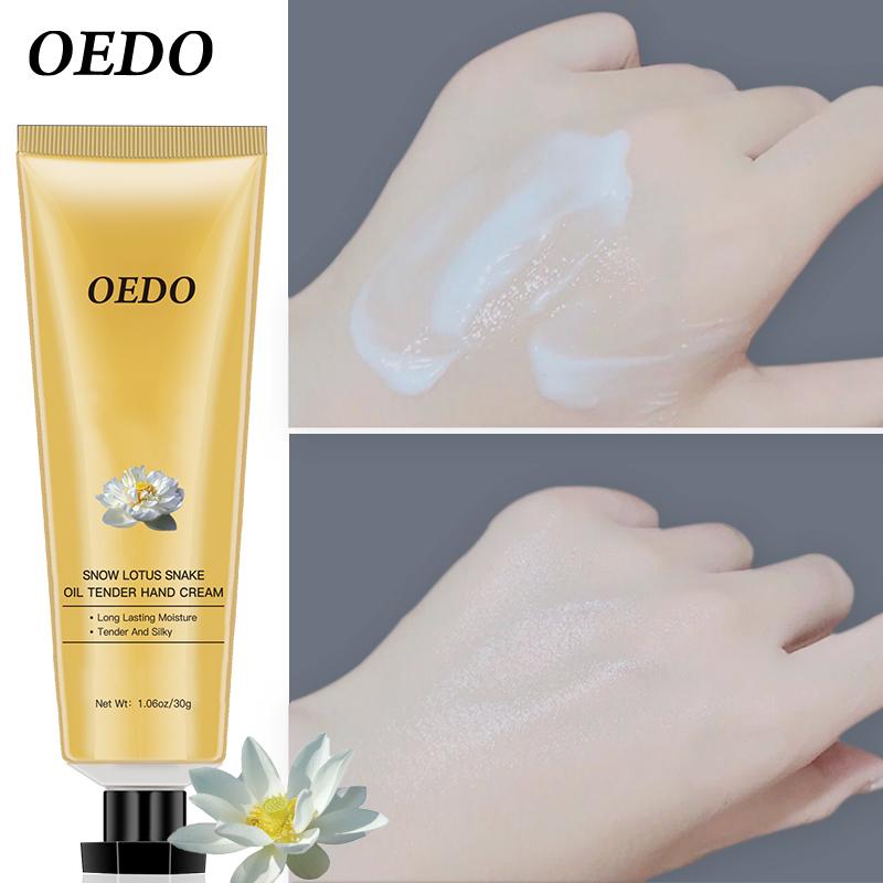 OEDO Kem chăm sóc da tay Hoa Sen Tuyết 30g có chức năng kháng khuẩn chống nứt nẻ dưỡng trắng da và chống lão hóa phù hợp với mọi loại da - INTL