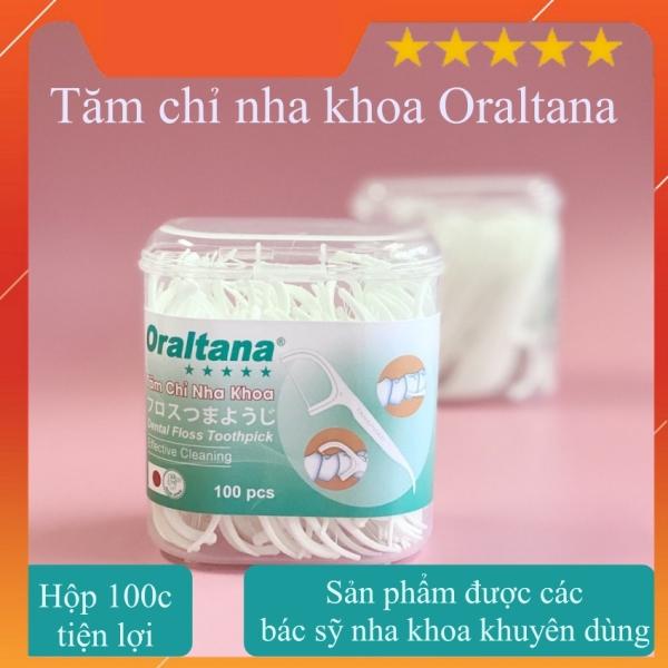 Tăm chỉ nha khoa Oraltana lọ 100 chiếc tiện lợi