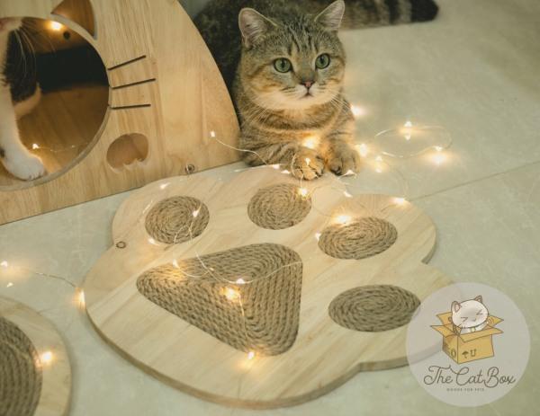 Bàn cào móng cho mèo hình bàn chân kích thước 35cm
