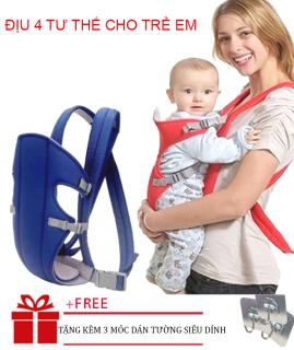 [ TẶNG KÈM 3 MÓC DÁN ] Địu em bé trợ lực thoáng khi cho bé từ 4 đến 18 tháng tuổi- địu trẻ em- đai địu đi xe máy- Túi Đeo Trẻ Em, Địu 4 Tư Thế, Đai Bế Bé,Điệu Em Bé, Địu Em Bé thumbnail