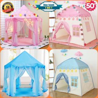 Lều công chúa hoàng tử mẫu mới cho bé yêu hình lục giác kèm bóng nhay trang trí dài 3 mét - Lều ngủ công chúa, HIẾT KẾ ĐẸP MẮT, ĐỘC ĐẢO (LOẠI TO CHO 2 - 3 BÉ CHƠI CÙNG LÚC) iểu Dáng Hàn Quốc-Lều cắm trại cho bé vui chơi thumbnail