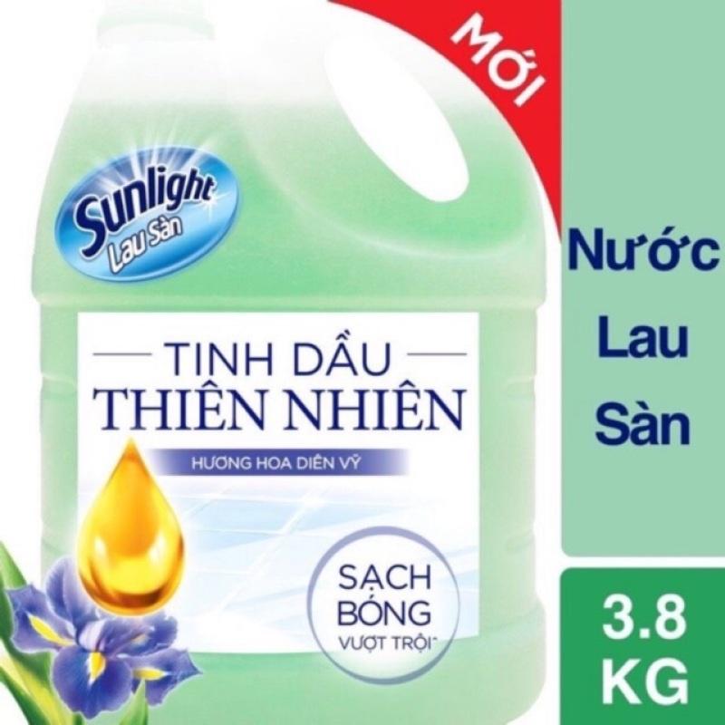 Nước lau sàn Sunlight hương hoa hạ 3.8 kg