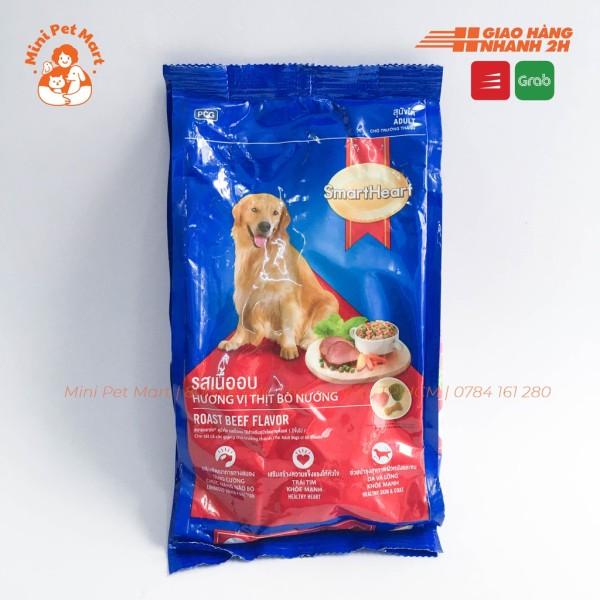 [HCM]Thức ăn hạt khô cho chó trưởng thành SMARTHEART 400g - Vị thịt bò nướng