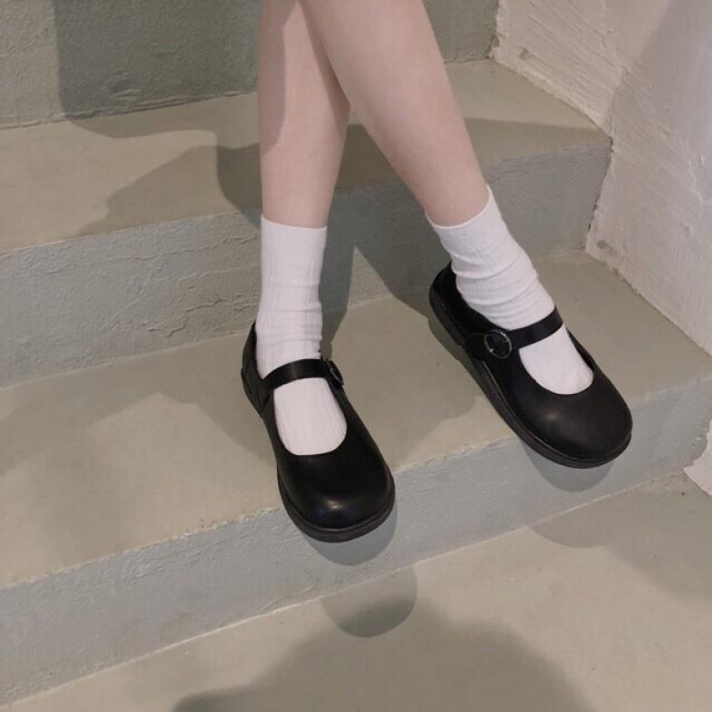 Giày Mary Janes khuy tròn ( form rộng hơn 1 size ) giá rẻ