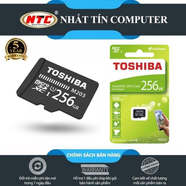 [Nhập ELMAY21 giảm 10% tối đa 200k đơn từ 99k]Thẻ nhớ MicroSDXC Toshiba M203 256GB UHS-I U1 tốc độ đọc đến 100MB/s (Đen) - Nhất Tín Computer