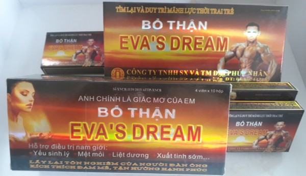 TPBVSK viên uống EVA DREAM tăng cường sinh lý nam ( hộp 4 viên) nhập khẩu