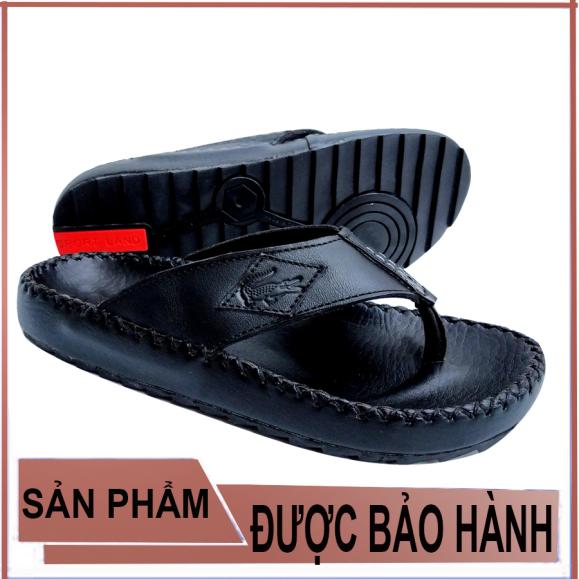 dép xỏ ngón nam da bò cao cấp D81 thời trang cá tính thiết kế ôm chân chống trơn trượt giá rẻ