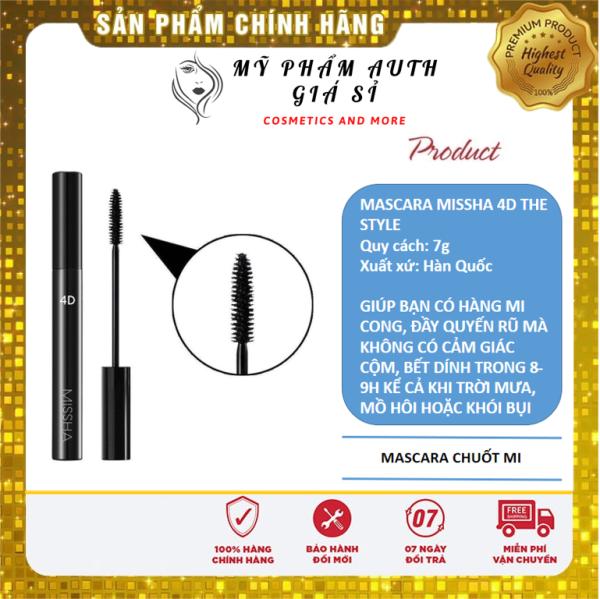 [CHÍNH HÃNG GIÁ SỈ] Chải Mi Mascara Missha The Style 4D 7g Hàn Quốc Giúp Mi Dày Dài Và Cong Hơn giá rẻ