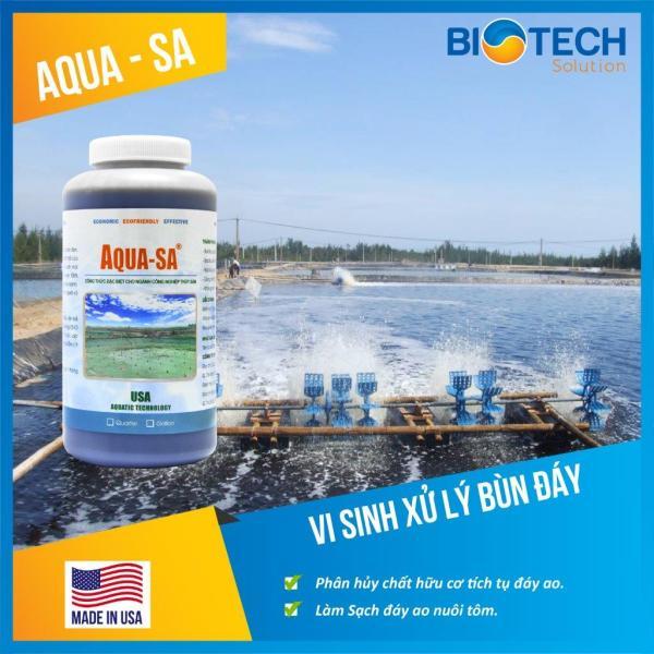 AQUA-SA - Vi sinh xử lý bùn đáy ao nuôi trồng thủy sản - Chai 1 quarter (≈ 1 lít)