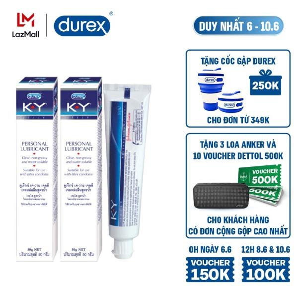 [6-10.6][VOUCHER ĐẾN 100K]Combo 2 gel bôi trơn Durex K-Y Jelly 50g ( KY Jelly)